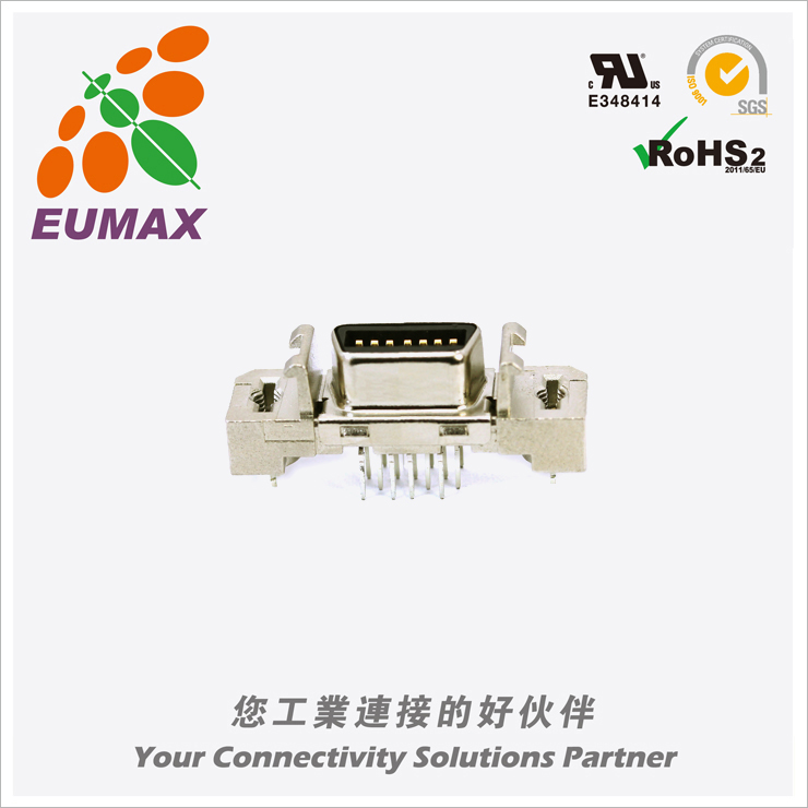 XDR-10214V 垂直插座 14P 欧巨MDR连接器