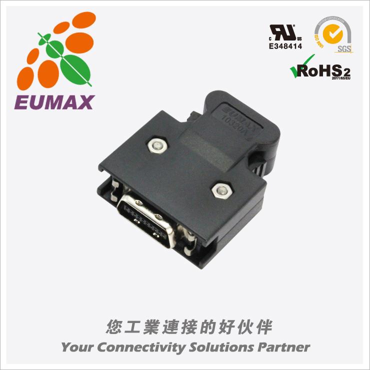 XDR-10320FC 插头配套 20P 卡钩式 欧巨MDR连接器