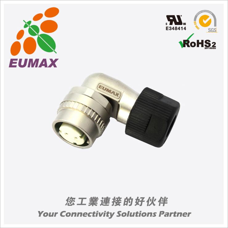 XM10-A2S-C CM10-AP2S-M弯型插头 2P 欧巨CM10连接器