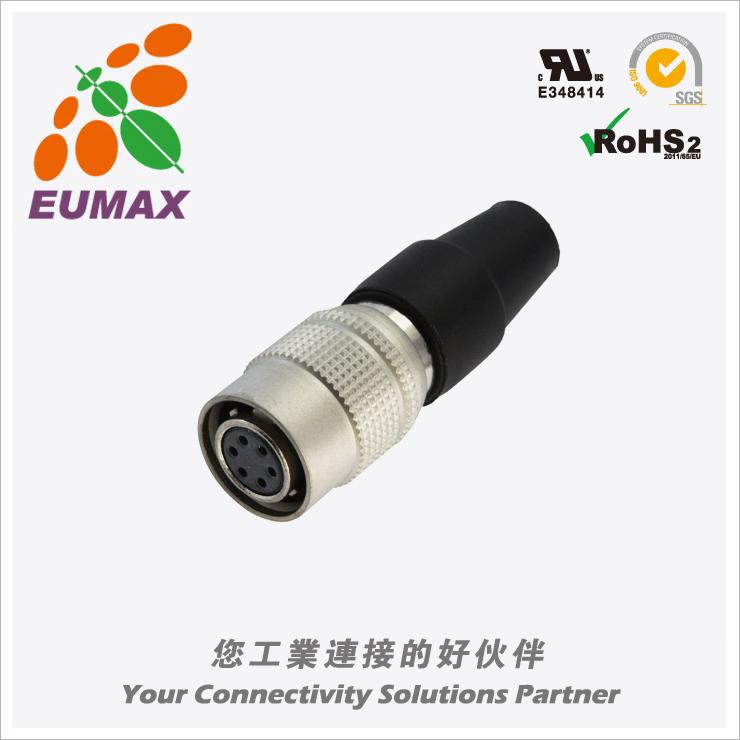 XM10A-S6S-C HR10A-7P-6S直型插头 6P 欧巨HR10A连接器