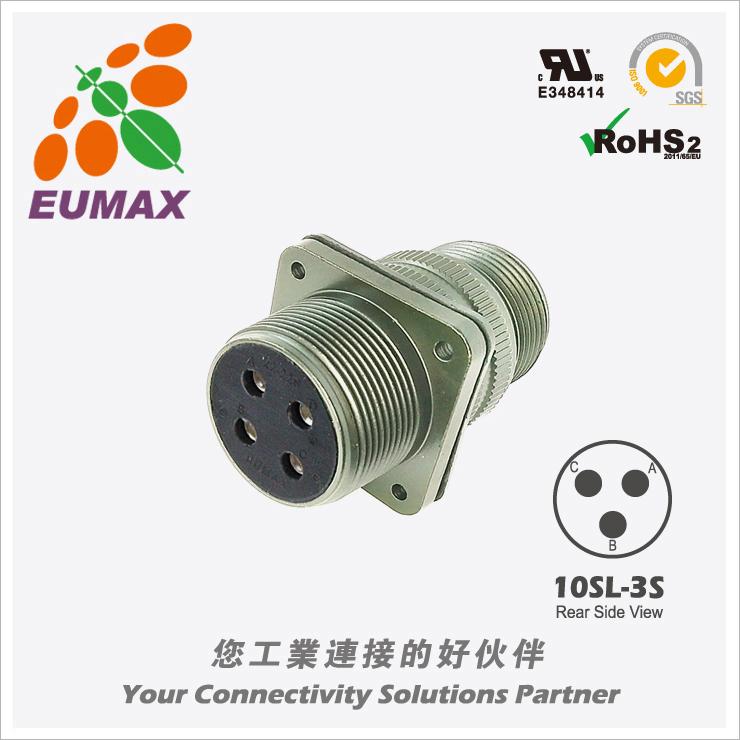 XMS3100A10SL-3S 板装插座 3P 欧巨5015军规连接器/航插