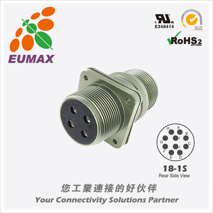 XMS3100A18-1S 板装插座 10P 欧巨5015军规连接器/航插